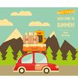 Travel Car Mountain Landscape vector image