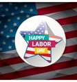 USA Labor day background or poster vector image