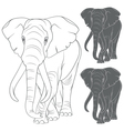 Set of with the elephant vector image