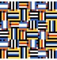 Colorful techno stripes vector image