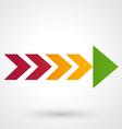 Color arrow icon vector image vector image