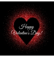 St Valentines day glittering background with heart vector image