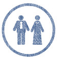 newlyweds rounded fabric textured icon vector image
