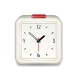 Square alarm clock icon vector image