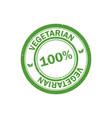 100 vegetarian stamp vegan logo icon vector image
