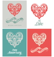 Wedding and Anniversary Greeting Card vector image vector image