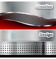 Metal background design vector image
