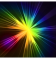 Abstract flash star light Colorful exploding vector image