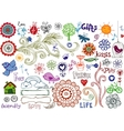 Eco doodles vector image