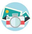 Photo camera in flat color design vector image