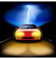 Night car vector image vector image