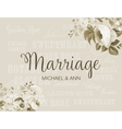 The marriage card vector image vector image