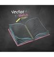 Chalked school notebook vector image vector image