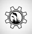 Silhouette of industrial factory vector image