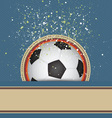 soccer celebrate background vector image vector image
