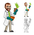 Plant Scientist Inspecting The Roots of a Plant vector image