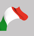 background with italy wavy flag vector image