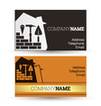 Business card construction vector image