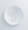circle icon with a shadow incandescent lamp vector image