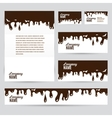 Corporate identity business chocolate set design vector image