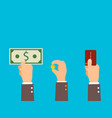 credit card finance money payment concept vector image