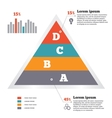 Infographics elements Pyramid chart Modern flat vector image