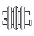 radiator line icon sign on vector image