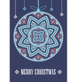template card Merry Christmas in vector image