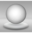 Hanging ball made of lots of smaller polygons in vector image