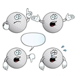Crying golf ball set vector image vector image