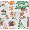 Seamless texture with the image of funny little vector image