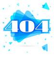 404 error page for website error vector image