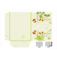 floral folder vector image vector image
