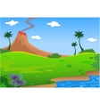 background volcano vector image