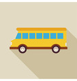 Flat School Bus Transport with long Shadow vector image