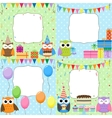 birthday party cards vector image