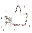 people like crowd vector image