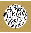 nervous hand drawn alphabet vector image vector image