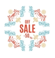 Bright Christmas sale banner vector image vector image