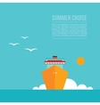 Cruise liner ship Colorful background Travel vector image