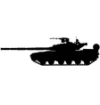battle tank silhouette vector image