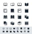 Book icon set simplicity theme vector image