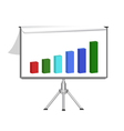 flip chart with diagram vector image