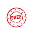 free bonus stamp rubber ink sticker design vector image