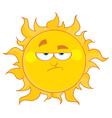 Grumpy sun vector image
