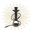 hookah on white background vector image