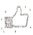 people like crowd vector image