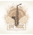 saxophone with wings vector image