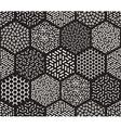 Seamless Hexagonal Jumble Patterns vector image