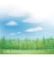 sky forest vector image